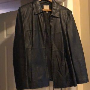 Anne Klein Black Leather Jacket.